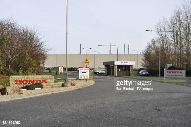 A general view of the south gate entrance at the Honda production plant in Swindon Wiltshire