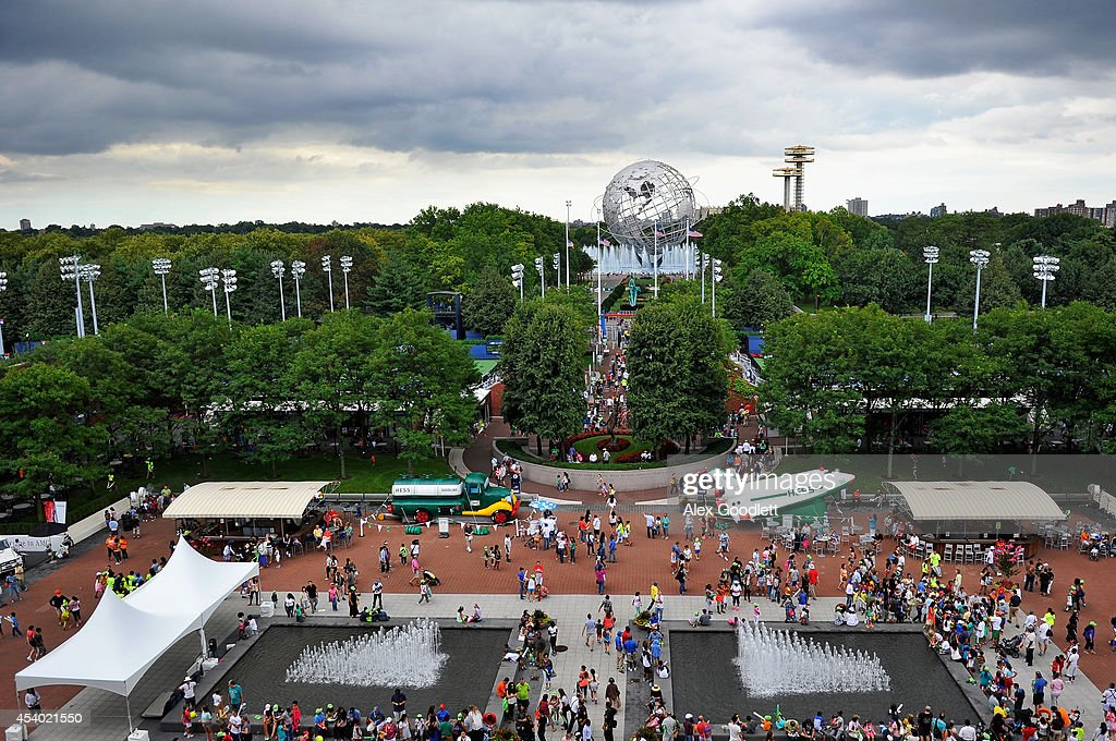A general view of the south gate is seen during Arthur Ashe Kids' Day prior to the start of the 2014 U.S. Open at the USTA Billie Jean King National Tennis Center on August 23, 2014 in the Flushing neighborhood of Queens in New York City.