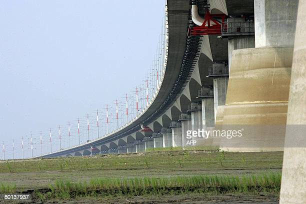 A general view of the South Koreanbuilt Jamuna Bridge across the River Jamuna some 110 kilometres northwest of Dhaka on March 4 2008 Bangladesh said...