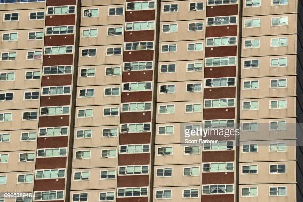 A general view of the South Melbourne Park Towers Housing Commission high rise building on June 16 2017 in Melbourne Australia There has been...