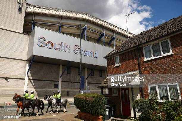 A general view of the South Stand prior to the Premier League match between Tottenham Hotspur and Manchester United at White Hart Lane on May 14 2017...