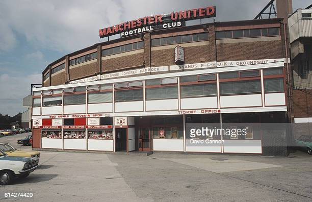 A general view of the souvenir shop and ticket office at Old Trafford home of Manchester United FC in Manchester England circa 1983