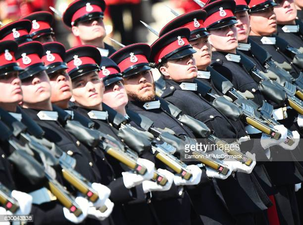 General view of the Sovereign's Parade at the Royal Military Academy Sandhurst on August 11 2017 in Camberley England
