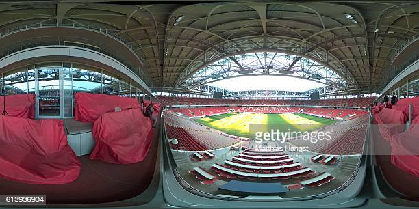 A general view of the Spartak Stadium during the FIFA News Agencies Tour for the FIFA Confederations Cup 2017 on October 6 2016 in Moscow Russia