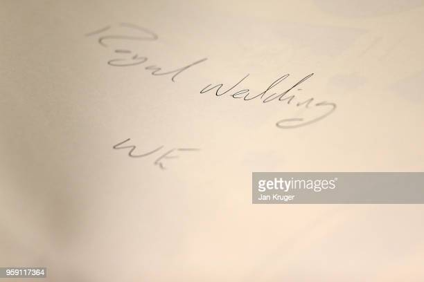 General view of the special edition print ahead of the wedding of Prince Harry and Meghan Markle at William Edwards Home Ltd on May 16 2018 in Stoke...