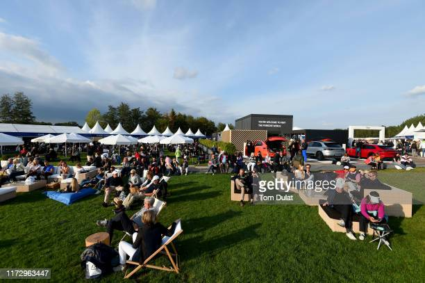 General view of the spectators village during Day Three of the Porsche European Open at Green Eagle Golf Courses on September 07, 2019 in Hamburg,...