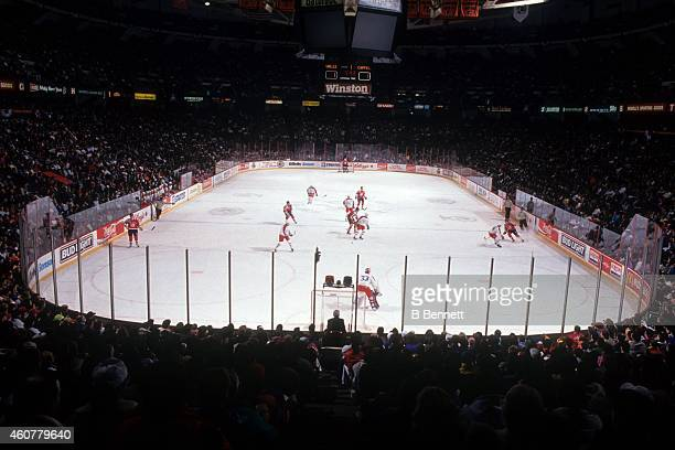 General view of the Spectrum during the 1992 43rd NHL AllStar Game with the Campbell Conference and the Wales Conference on January 18 1992 at the...
