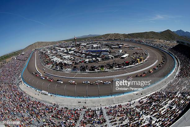 A general view of the speedway during the NASCAR Sprint Cup Series Good Sam 500 at Phoenix International Raceway on March 13 2016 in Avondale Arizona