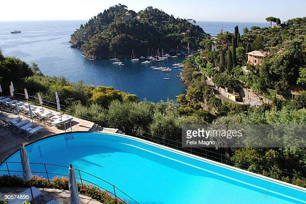A general view of the Splendido Mare Hotel where Madonna stayed on August 17 2009 in Portofino Italy