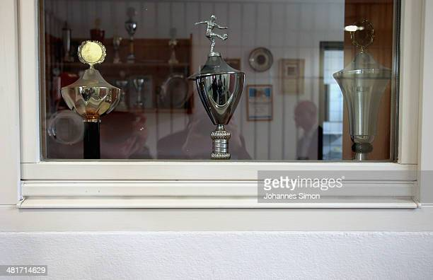 General View Of The Sports Trophy Room Landsberg Prison Where Former FC Bayern Muenchen