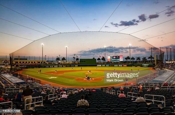 General view of the spring training game between the Houston Astros and the Washington Nationals at the FITTEAM Ballpark of The Palm Beaches on March...