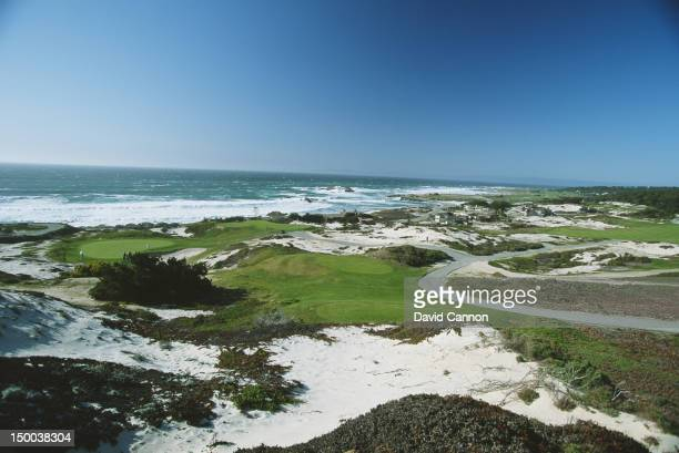 General view of the Spyglass Hill Golf Course on 1st January 1992 at the Spyglass Hill Golf Course on the Monterey Peninsula in Monterey, California,...