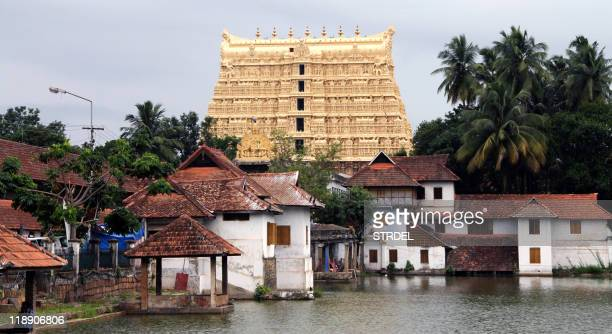 A general view of the Sree Padmanabhaswamy Temple in the capital of Kerala state Thiruvananthapuram on July 5 2011 after enormous quantities of gold...