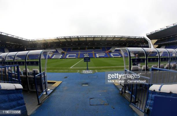General view of the St Andrews Stadium the home of Birmingham City during the Sky Bet Championship match between Birmingham City and Leeds United at...