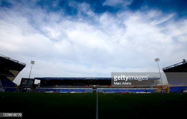 General view of the St Andrew's Trillion Trophy Stadium prior to the Sky Bet Championship match between Birmingham City and AFC Bournemouth at St...