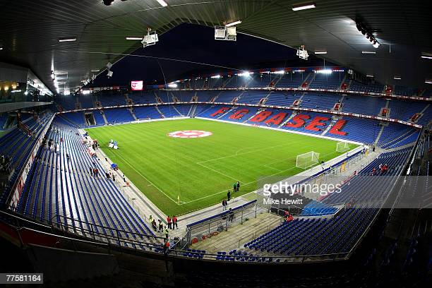 General view of the St Jakob Park stadium prior to the International Friendly match between Switzerland and United States at the St Jakob Park...