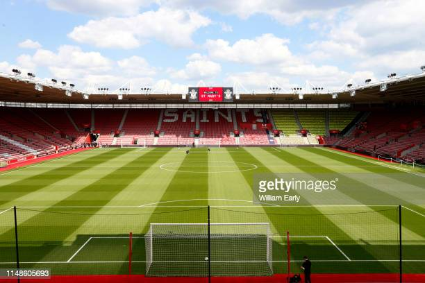A general view of the St Mary's Stadium before the Premier League match between Southampton FC and Huddersfield Town at St Mary's Stadium on May 12...