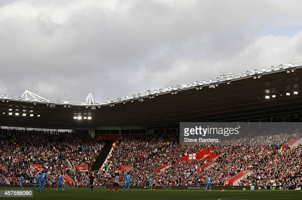 General view of the St Marys Stadium during the Barclays Premier League match between Southampton and Sunderland at St Mary's Stadium on October 18...