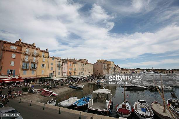 A general view of the St Tropez harbour on August 9 2011 in St Tropez France