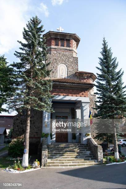 General view of the Stabtul Illie Church on August 05 2018 in Sinaia Romania