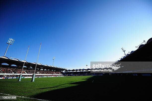 A general view of the Stade Aime Giral during the Heineken Cup Pool 5 match between Perpignan and Scarlets at the Stade Aime Giral on January 23 2011...
