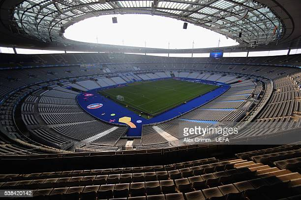 A general view of the Stade de France ahead of the UEFA Euro 2016 on June 6 2016 in Paris France