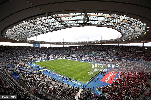 General view of the Stade de France before the French League Cup final between Paris SaintGermain and Lille OSC at Stade de France on April 23 2016...
