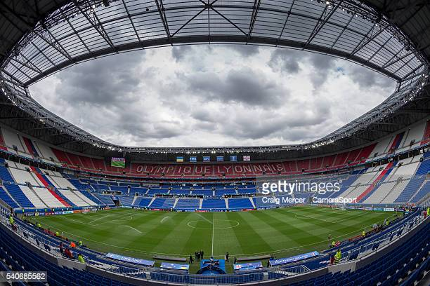 A general view of the Stade de Lyon ahead of the UEFA Euro 2016 Group C match between Ukraine and Northern Ireland at Stade de Lyon on June 16 2016...