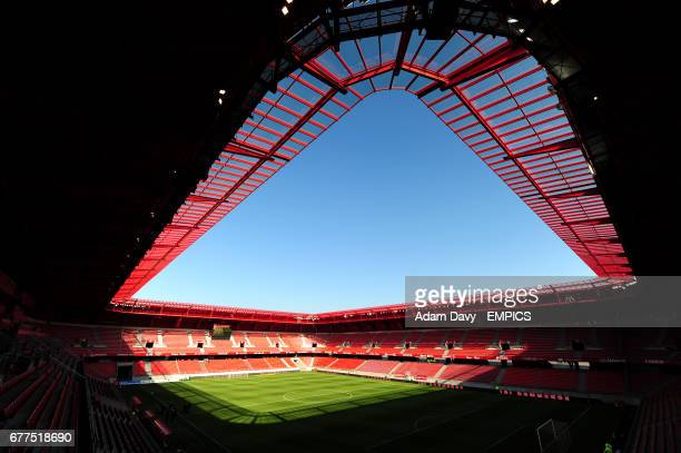A general view of the Stade du Hainaut home of Valenciennes