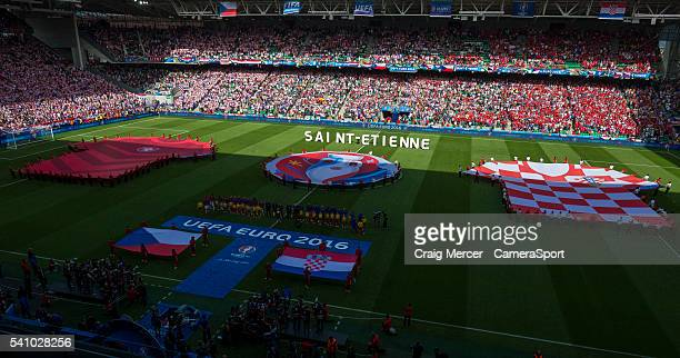 A general view of the Stade GeoffroyGuichard SaintEtienne before the UEFA Euro 2016 Group D match between Czech Republic and Croatia at Stade...