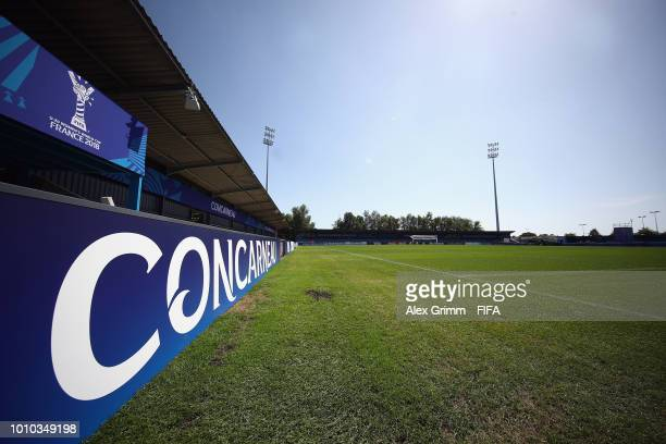 A general view of the stade Guy Piriou during the FIFA U20 Women's World Cup France 2018 on August 3 2018 in Concarneau France