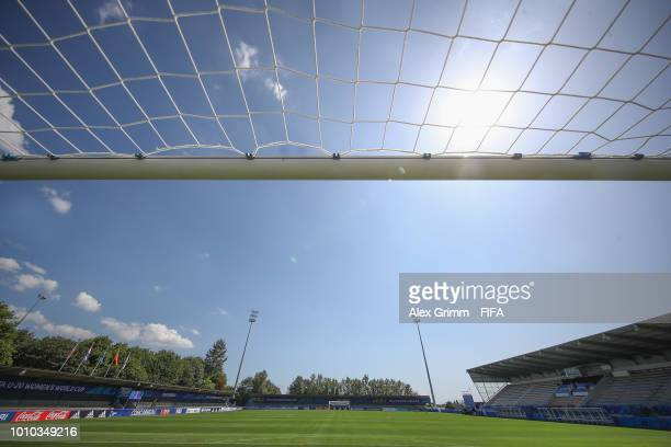 General view of the stade Guy Piriou during the FIFA U-20 Women's World Cup France 2018 on August 3, 2018 in Concarneau, France.
