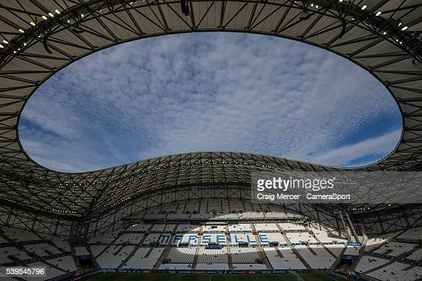 General view of the Stade Velodrome, Marseille, venue for the UEFA Euro 2016 Group B match between England and Russia at Stade Velodrome on June 10,...
