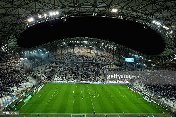 General view of the Stade Vélodrome de Marseille during the French League 1 match between Olympique de Marseille and FC Girondins de Bordeaux at...
