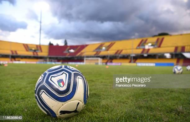 General view of the Stadio Ciro Vigorito before the UEFA Women's Euros 2021 Qualifier match between Italy Women v Georgia Women on November 08, 2019...