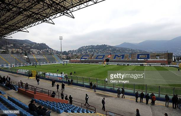 General view of the Stadio Giuseppe Sinigaglia before the NextGen Series final match between Chelsea and Aston Villa at Stadio Giuseppe Sinigallia on...