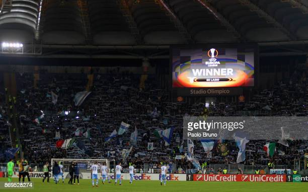 A general view of the Stadio Olimpico after the UEFA Europa League group K match between SS Lazio and OGC Nice at Stadio Olimpico on November 2 2017...