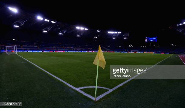 A general view of the Stadio Olimpico before the Group G match of the UEFA Champions League between AS Roma and CSKA Moscow at Stadio Olimpico on...