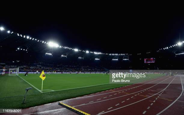 A general view of the Stadio Olimpico before the Serie A match between AS Roma and Genoa CFC at Stadio Olimpico on August 25 2019 in Rome Italy