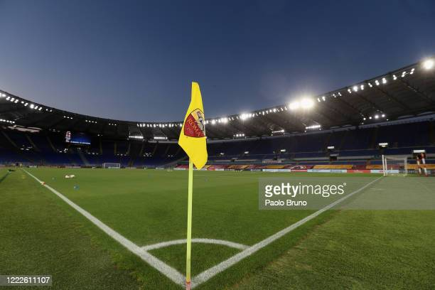 A general view of the Stadio Olimpico before the Serie A match between AS Roma and UC Sampdoria at Stadio Olimpico on June 24 2020 in Rome Italy