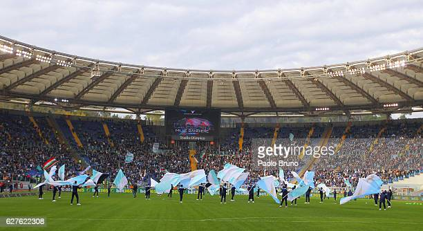 A general view of the Stadio Olimpico before the Serie A match between SS Lazio and AS Roma at Stadio Olimpico on December 4 2016 in Rome Italy