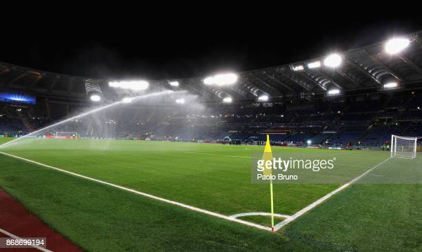 A general view of the Stadio Olimpico before the UEFA Champions League group C match between AS Roma and Chelsea FC at Stadio Olimpico on October 31...
