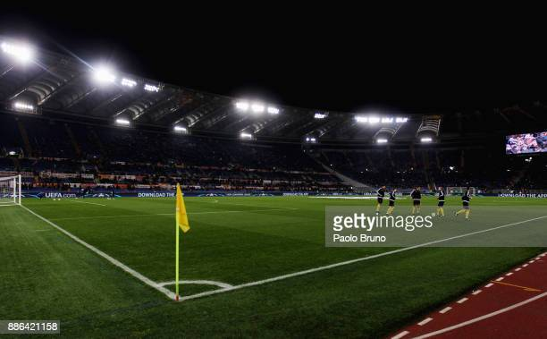 A general view of the Stadio Olimpico before the UEFA Champions League group C match between AS Roma and Qarabag FK at Stadio Olimpico on December 5...