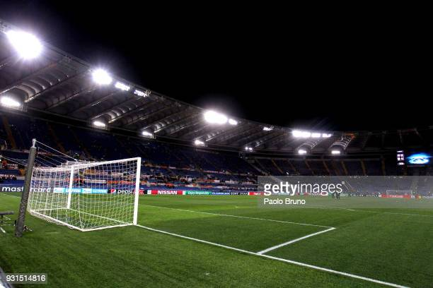 A general view of the Stadio Olimpico before the UEFA Champions League Round of 16 Second Leg match between AS Roma and Shakhtar Donetsk at Stadio...