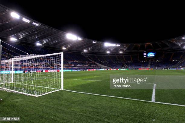 General view of the Stadio Olimpico before the UEFA Champions League Round of 16 Second Leg match between AS Roma and Shakhtar Donetsk at Stadio...