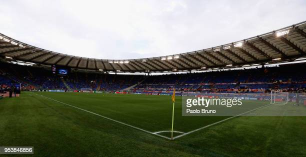 General view of The Stadio Olimpico before the UEFA Champions League Semi Final Second Leg match between A.S. Roma and Liverpool at Stadio Olimpico...