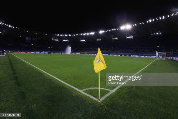 A general view of the Stadio Olimpico before the UEFA Europa League group E match between SS Lazio and Stade Rennes at Stadio Olimpico on October 3...