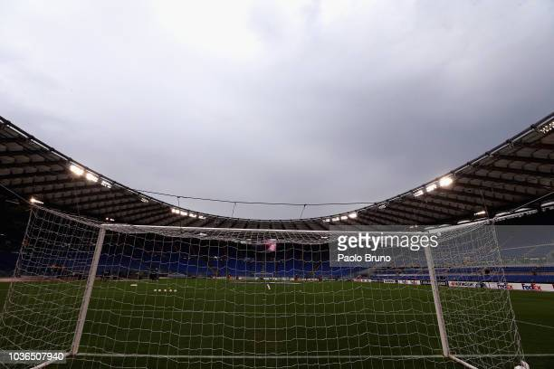 Ciro Immobile of SS Lazio scores a second goal a penalty during the UEFA Europa League Group H match between SS Lazio and Apollon Limassol at Stadio...