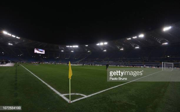 A general view of the Stadio Olimpico before the UEFA Europa League group H match between SS Lazio and Eintracht Frankfurt at Stadio Olimpico on...
