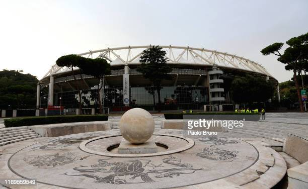 A general view of the Stadio Olimpico before the UEFA Europa League group J match between AS Roma and Istanbul Basaksehir FK at Stadio Olimpico on...